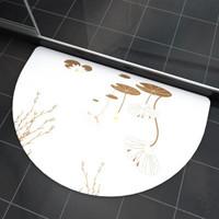 移动专享 : FK 访客  硅藻泥地垫 创意半圆 荷花 60*39cm