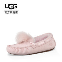 UGG秋冬女士舒适潮流休闲浅口毛便鞋少女乐福鞋 1019015 (粉色、38)
