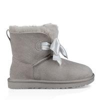 UGG 冬季女士雪地靴经典新奇系列蝴蝶结迷你短靴 1098360 SEL | 灰色 36