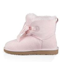 UGG 冬季女士雪地靴经典新奇系列蝴蝶结迷你短靴 1098360 SLPN   海贝粉 37