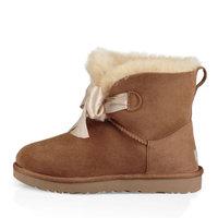 UGG 冬季女士雪地靴经典新奇系列蝴蝶结迷你短靴 1098360 CHE | 栗子棕色 40