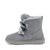 UGG 冬季女士雪地靴经典新奇系列蝴蝶结迷你短靴 1098360 GYS | 蓝灰色 39