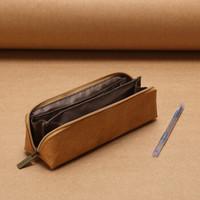 KOKUYO 国誉 PC102 ASSORT 杜邦纸笔袋 茶色 送中性笔 *2件 +凑单品