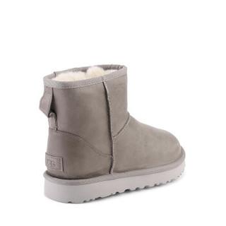 UGG 2019秋冬新款女士雪地靴经典迷你纯色低筒休闲时尚靴1006595 FEA   羽毛色 40