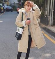 12日0点、双12预告:韩都衣舍 GQ9537 女士收腰连帽棉衣
