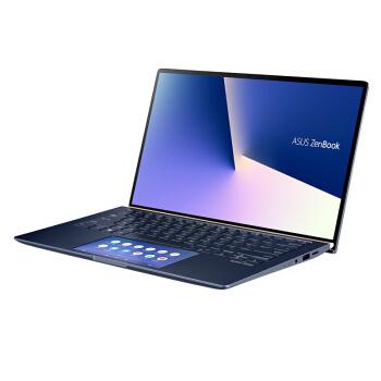 华硕(ASUS)灵耀Deluxe14s 英特尔酷睿i7 14.0英寸双屏轻薄笔记本电脑(十代i7-10510U 8G 512GSSD MX250)蓝