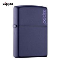 美国进口 之宝(zippo) 防风煤油打火机不含油  239ZL 蓝哑漆商标 品牌直供原装正版 +凑单品