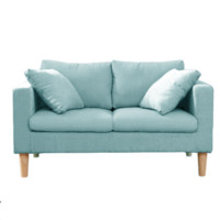 木优 小户型布艺沙发 双人位124cm