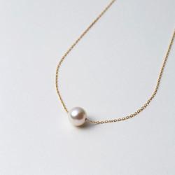 Maria 9mm阿古屋海水珍珠 K18链 一颗珠 42cm