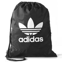 adidas 阿迪达斯 BK6726 休闲双肩抽绳包 (黑色、20升、其他、帆布)
