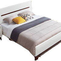 全友家居 121802 时尚北欧卧室套房 白色床