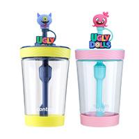 Contigo康迪克创意防漏宝宝儿童吸管杯便携丑娃娃冷萃吸管杯500ml