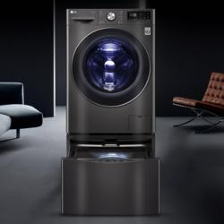 LG 乐金 FQ13BVW 滚筒+波轮 分区全自动洗烘一体机 耀石黑 13.2kg