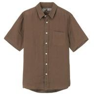 MUJI 无印良品 M8SC763 男士亚麻水洗衬衫