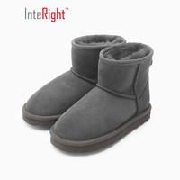 INTERIGHT 皮毛一体保暖雪地靴童靴灰色 29#