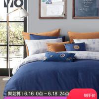 LOVO家纺床上用品全棉三/四件套特价纯棉被套学生宿舍