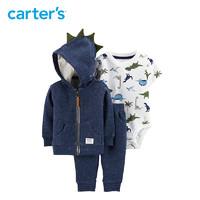 Carters 连身衣长裤外套3件套男婴童针织套装16545810