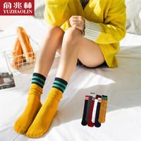俞兆林堆堆袜女日系时尚外露女袜子棉质秋冬保暖中长筒女袜休闲运动袜 女日系堆堆袜-6双 均码
