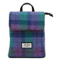 Harris Tweed 哈里斯 Tummel系列 绿紫色方块背包
