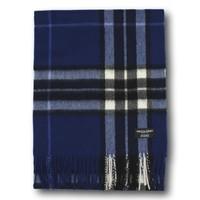 Gretna Green 海军蓝汤普森格子 羊绒围巾