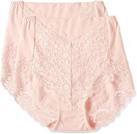 ATSUGI 厚木 短裤 3D COVER 收腹 高腰蕾丝短裤〈2件装〉 80846CS *2件