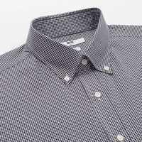 男装 精纺弹力修身格子衬衫(长袖) 419005 优衣库UNIQLO