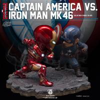 漫威 美国队长3:内战 美国队长VS钢铁侠马克46 对战组雕像