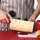 玫瑰金色切菜刀 家用厨房不锈钢切片刀锋利免磨切肉刀厨师专用刀 49元