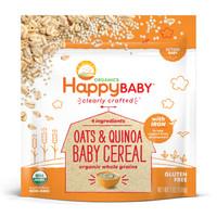 禧贝HappyBABY 米粉婴幼儿米糊   袋装燕麦藜麦粉 198g *8件