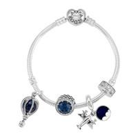 PANDORA 潘多拉 PDL0827 蓝色漫步云端 串珠手链