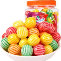 西瓜泡泡糖80.90后怀旧零食年货糖果西瓜味软糖桶装约185粒儿童口香糖礼物