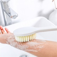 MOYOU 长柄软毛浴刷 洗澡刷  白色