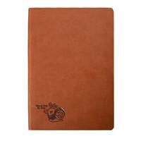 George Willsons 商务笔记本 A5羊巴皮插笔款设计 100张/200页