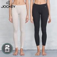 jockey 居可衣 JS24613913P 女士棉质打底长裤 2条装