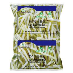 雪川食品 水晶冷冻薯条 1/4细薯条 2kg