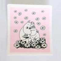 SIBAOLU 斯宝路 姆明系列 洗碗海绵布 粉色相拥