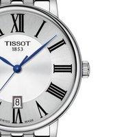 新品 天梭(TISSOT)瑞士手表 2019年新品卡森臻我系列钢带石英男士手表T122.410.11.033.00