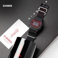 CASIO 卡西欧 G-SHOCK×可口可乐 限定联名套装 DW-5600COCA19-1PR 男士运动腕表