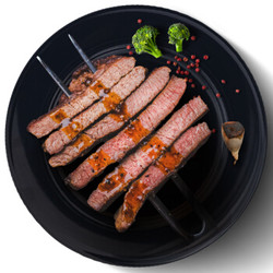烧范儿 整切经典黑椒牛排 5片装 900g *3件