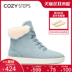 COZY STEPS新款羊皮毛一体雪地靴高帮女靴平底板靴8D209