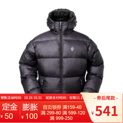 BLACKICE/黑冰 F8531 户外男款鹅绒带帽短款800蓬羽绒服 19秋冬新品独 黑色 L