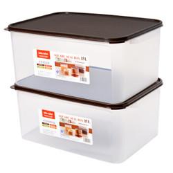 JEKO&JEKO SWB-5441 塑料收纳箱 15L 2只装 咖啡色