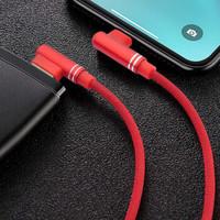 MEKOO 迷可 双弯头手游快充数据线 (富贵红、1米、苹果Lightning、Type-C、PD快充)