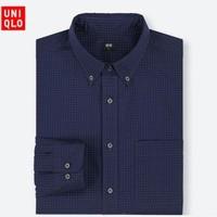 UNIQLO 优衣库 411842 长绒棉印花衬衫