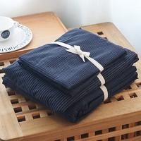 J.H.Longess 原棉织布全棉棉刺子四件套 床笠款 1.8米床