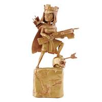 部落冲突 弓箭女皇雕像 金色全球限量版