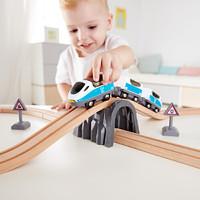 Hape新款火车轨道8字套响铃套装3-6岁木质轨道玩具早教益智儿童玩具婴幼玩具木制玩具轨道滑道Suit0039 *2件