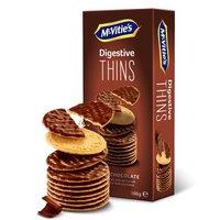 麦维他(Mcvitie's)全麦黑巧克力涂层薄脆消化饼干100g *5件