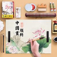 Chinjoo 青竹画材 国画颜料工具套装 12色 毛笔