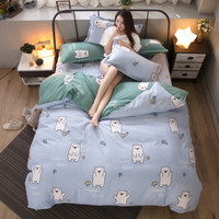 植物羊绒棉家纺床上用品磨毛四件套被套床单